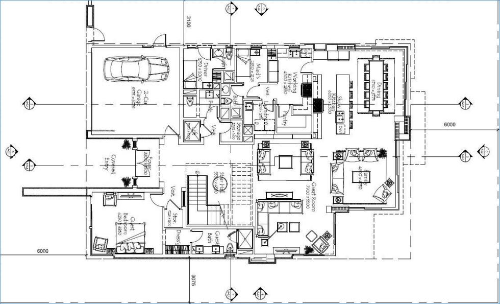 Ellington Palm Villa collection-GF_floor plans
