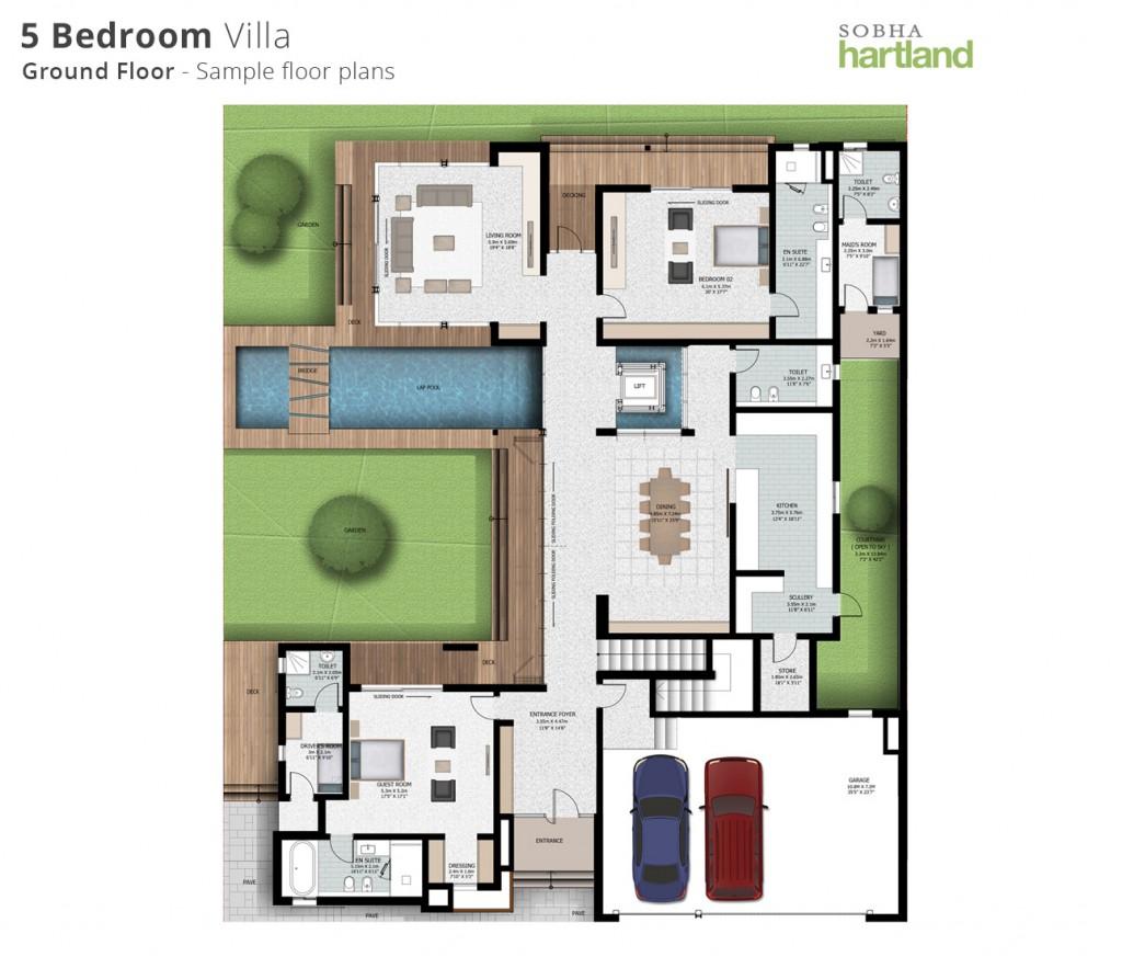 5BR ground-Floor-plans-sobha hartland