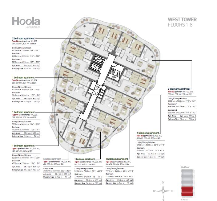 HoolaLondonE16_Floorplan_WestTower_1-8floor