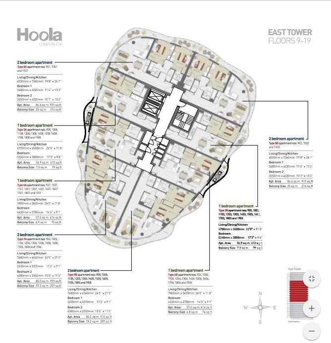 HoolaLondon_FloorPlan_East_ Floor9-18