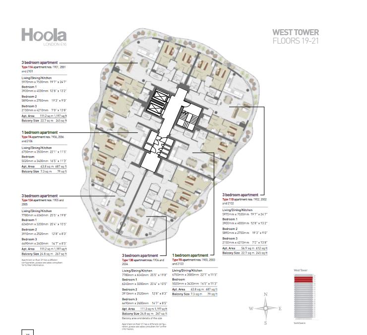 HoolaLondon_FloorPlan_West - Floor19-21