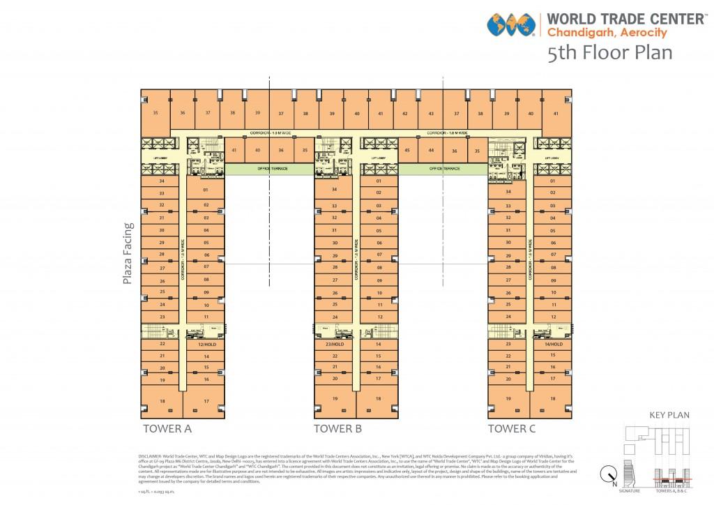 WTCChandigarh_FloorPlan_OfficeSpace_5floor