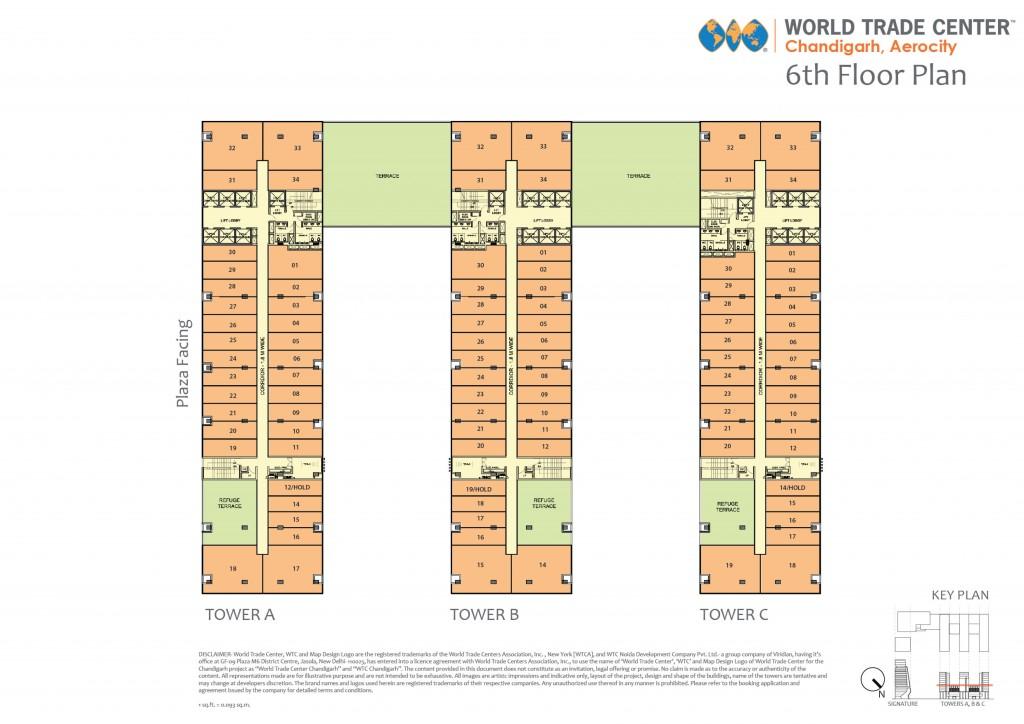 WTCChandigarh_FloorPlan_OfficeSpace_6thfloor