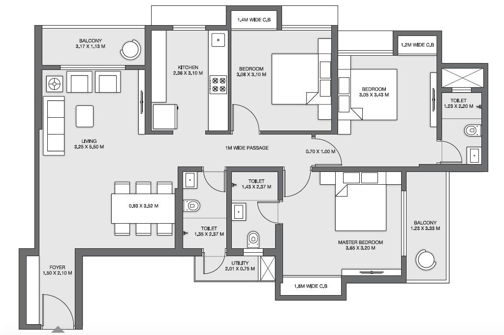 Emerald_Floorplan_3BHKS