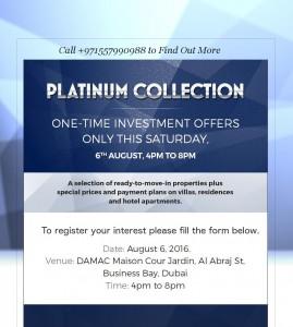 Damac Platinum Collection_LandingPage